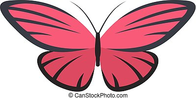 Nice butterfly icon, flat style.