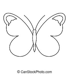 Nice butterfly icon, outline style