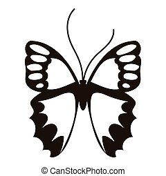 Nice butterfly icon, simple style