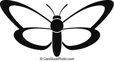 Nice butterfly icon, simple style.