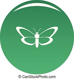 Nice butterfly icon vector green