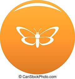 Nice butterfly icon vector orange