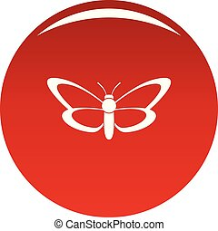 Nice butterfly icon vector red