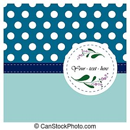 Nice card with pattern for your design