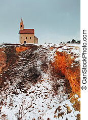 Nice Catholic Chapel in eastern Europe - village Drazovce near town Nitra