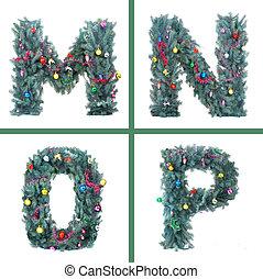 Nice Christmas Alphabet