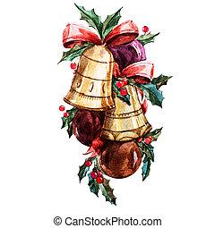 Nice christmas bells - Beautiful raster image with nice...