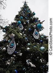 nice christmas tree isolated