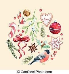 Nice christmas vector composition