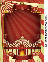 Nice circus big top - A circus poster with three big tops...
