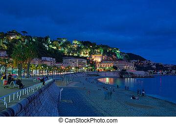 Nice city at night