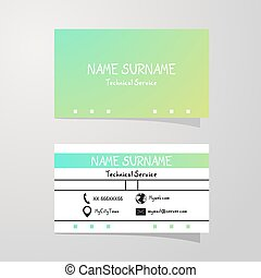 nice color art business card background