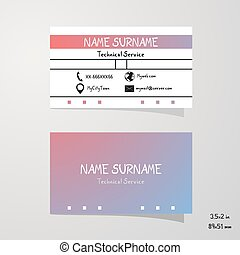 nice color art business card