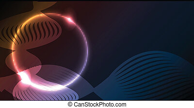 Nice colorful glowing circle abstract vector background