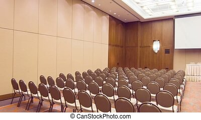 Nice conference hall before meeting