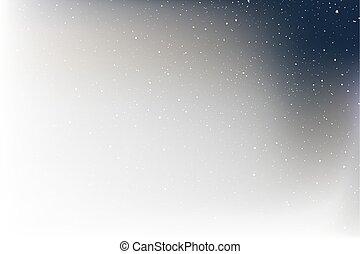 nice corner witn stars on white background