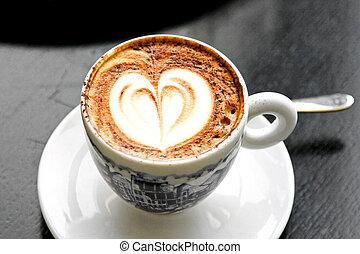 Italian cappuccino - Nice cup of Italian cappuccino with ...