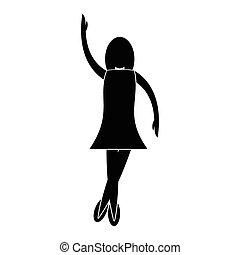 Nice dance simple icon