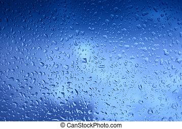 blue droplets - Nice dark blue droplets close-up background....