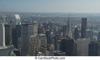 nice day from empire state pan shot part II - pan shot over...