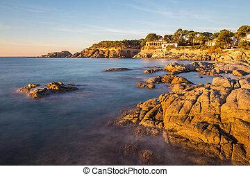 Nice detail from Costa Brava village Sagaro ( Catalonia) coastal in Spain