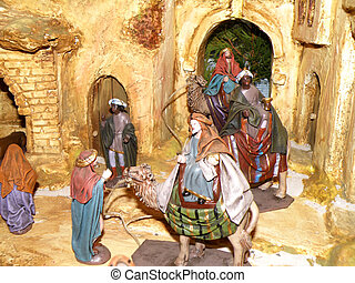 crib - nice detail of crib with three kings