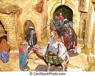 crib - nice detail of crib with three kings