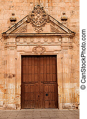 Nice door with wrought iron decoration
