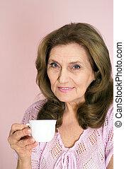nice elderly woman