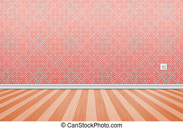 Nice empty room background - Empty grunge interior with wall...