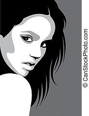 nice face of girl