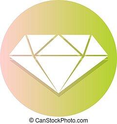 nice flat diamond symbol