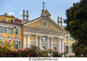 Nice - French Riviera - An ornate building in the city of...