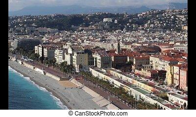 Nice, French Riviera - Promenade des Anglais boulevard,...