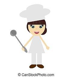 nice girl cook