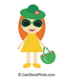nice girl going to the beach
