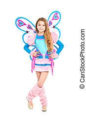 Nice girl in fairy costume