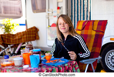 nice girl - camping