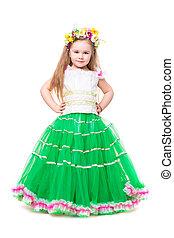 Nice girl wearing fluffy dress
