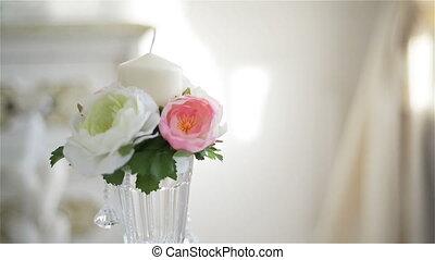 nice glass vase indoor