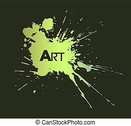 nice green art color ink