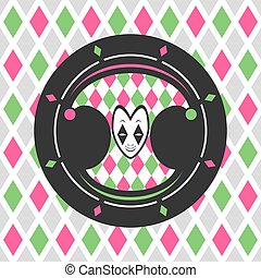 nice harlequin circle background art