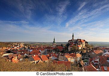 Nice historical castle in the czech republic - Mikulov
