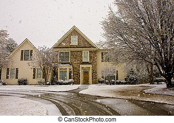 Nice House in Snow