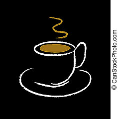 cup of coffee - nice illustration of cup of coffee isolated...