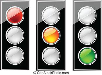 nice illustration of semaphore isolation over white background