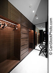 nice interior of bright cloakroom - beautiful and modern...