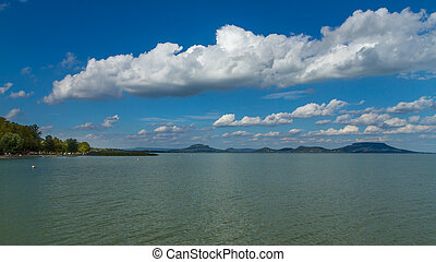 Nice landscape from Hungary, lake Balaton