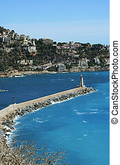 Lighthouse in Nice, France
