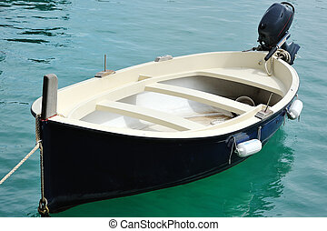 little boat in the port of Cetara, Amalfi coast